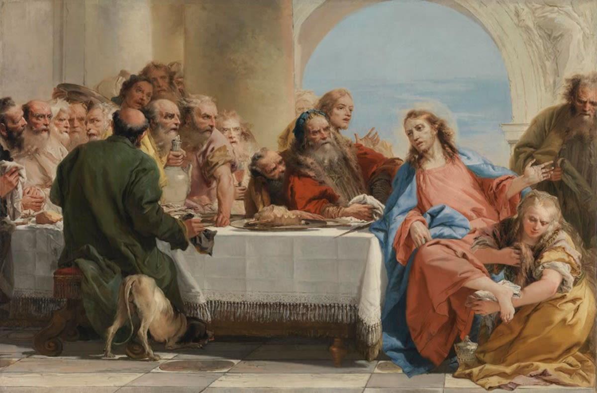 Christus und Magdalena im Hause des Pharisäers Simon
