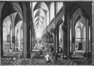 Gotisches Kircheninneres