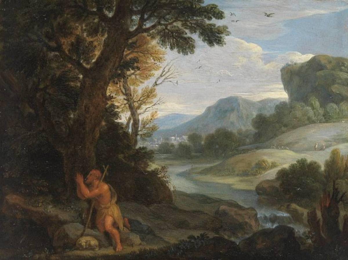 Landschaft mit Johann Baptista