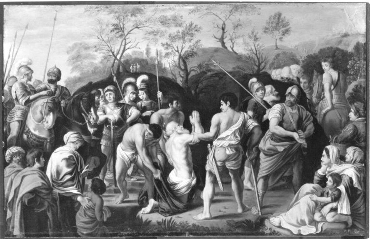 Der Apostel Andreas wird zum Martyrium geführt