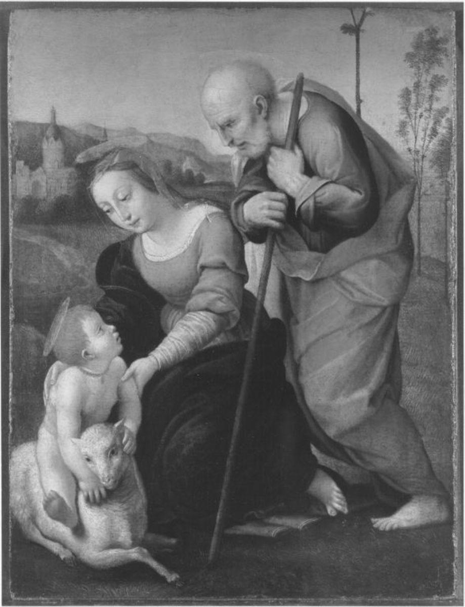 Die Heilige Familie mit dem Lamm