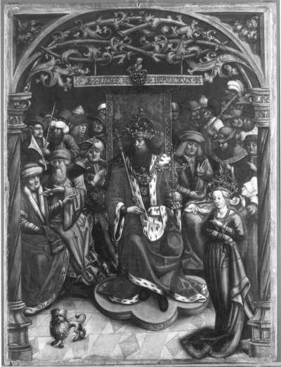 Kaiser Heinrich verurteilt die Kaiserin zum Gottesgericht