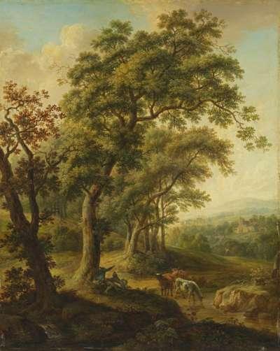 Landschaft mit Viehtränke