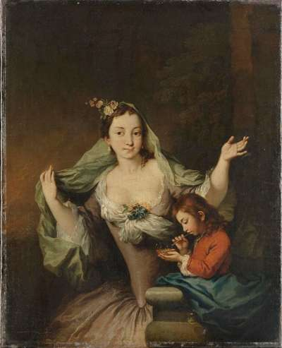 Bildnis einer Dame mit Knaben