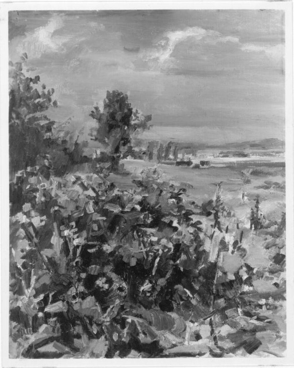 Niederbayerische Landschaft mit Buschwerk (Büchling)
