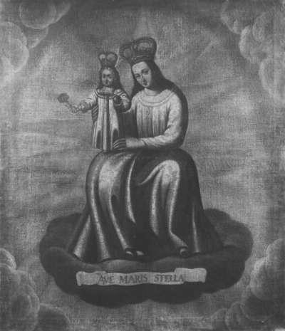 Maria mit Kind in der Glorie