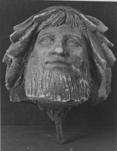 Kopffragment eines Modells für den Vater Rhein des Reinhard-Brunnens in Straßburg