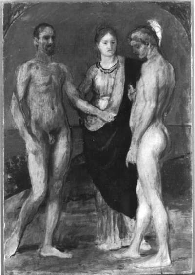 Die Frau zwischen den beiden Männern