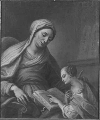 Die hl. Anna lehrt Maria lesen