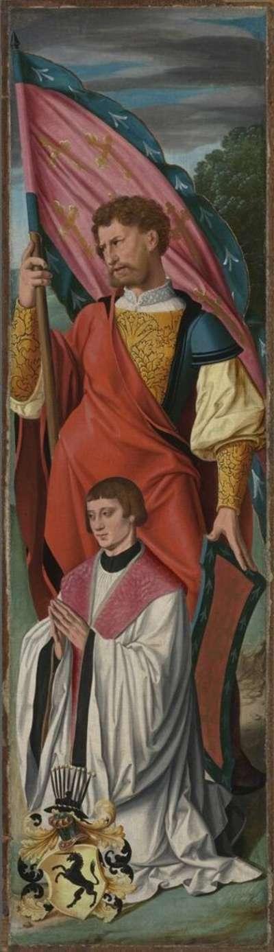 Beweinungsaltar: Ein Heiliger mit dem Stifter Bernhard (?) von Huchtenbroich