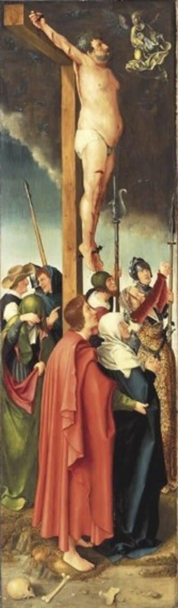 Rehlinger-Altar, linker Flügel: Der bußfertige Schächer