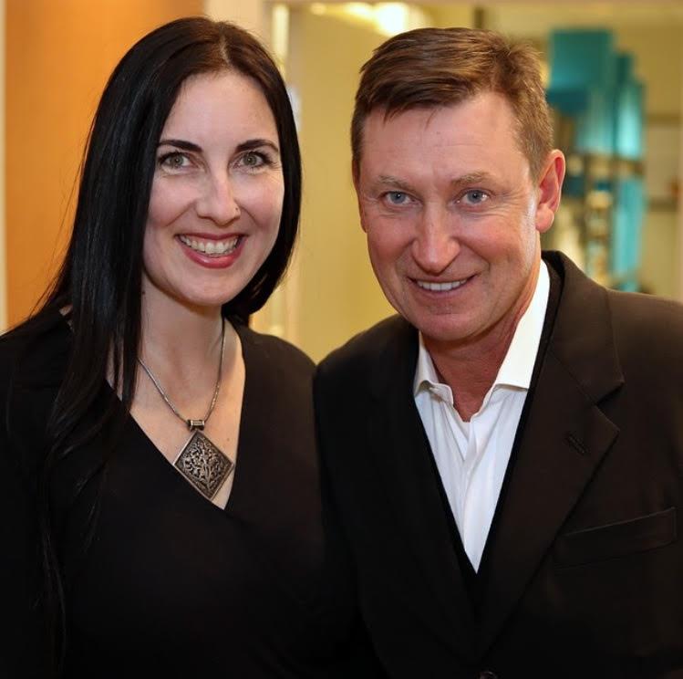 Kerri Singh and Wayne Gretzky