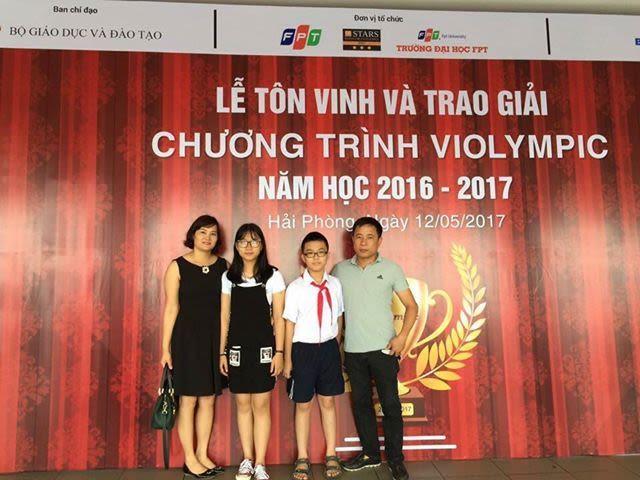 HỌC SINH ĐẠT GIẢI VÀNG VIOLYMPIC TOÁN -TIẾNG ANH NĂM 2016-2017