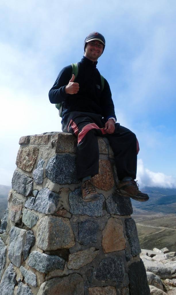 Auf dem Gipfel des Mount Kosciuszko!