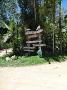 Eingangsschild des Bushcamps