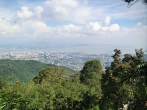 Blick vom Penang Hill