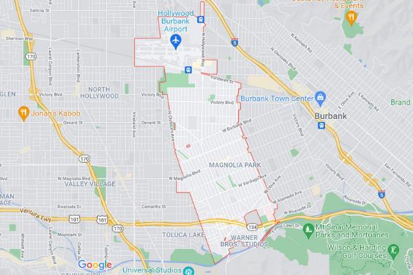 Burbank-CA Map