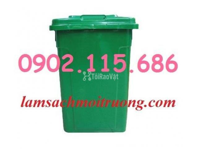Bán thùng rác nhựa 90L,thùng rác công cộng,thùng rác nhựa composite, - 1/3