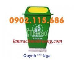 Bán thùng rác nhựa 90L,thùng rác công cộng,thùng rác nhựa composite, - Hình ảnh 2/3