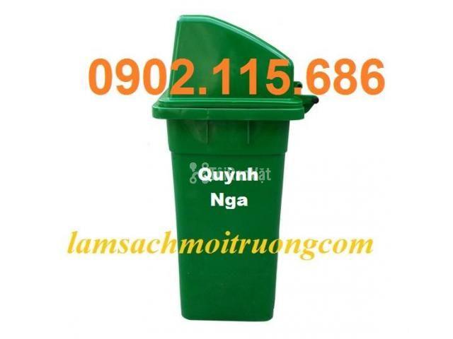 Bán thùng rác nhựa 90L,thùng rác công cộng,thùng rác nhựa composite, - 3/3