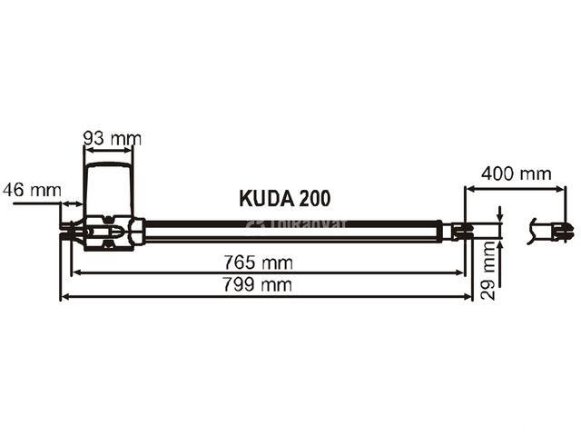 Cổng tự động - Mô tơ tay đòn Kuda 200 - Chính hãng Italy - 3/6