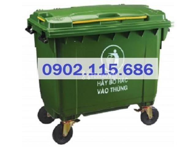 Thùng rác 660L, thùng rác 660 lít, xe gom rác 660L, thùng rác 660L có  - 2/4