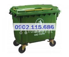 Thùng rác 660L, thùng rác 660 lít, xe gom rác 660L, thùng rác 660L có  - Hình ảnh 2/4