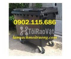 Thùng rác 660L, thùng rác 660 lít, xe gom rác 660L, thùng rác 660L có  - Hình ảnh 4/4