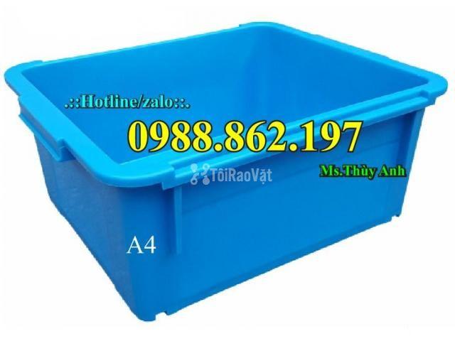 Thùng nhựa đặc A4, sóng nhựa bít A4, thùng chứa A4, khay nhựa A4 thùng - 4/6