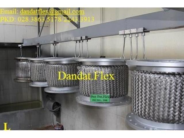 Khớp nối DN150, Ống mềm inox nối bích, khớp chống rung inox - 4/6
