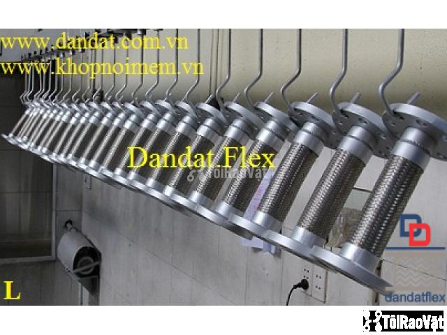Ống mềm inox sus304 dẫn hóa chất, khớp chống rung inox nối bích - 3/6