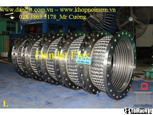 Ống mềm inox sus304 dẫn hóa chất, khớp chống rung inox nối bích - 4/6