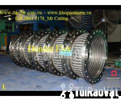 Ống mềm inox sus304 dẫn hóa chất, khớp chống rung inox nối bích - Hình ảnh 4/6