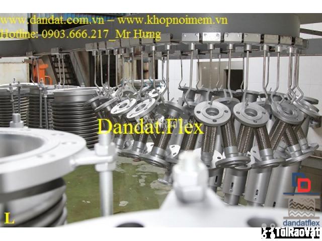 Ống mềm inox sus304 dẫn hóa chất, khớp chống rung inox nối bích - 5/6