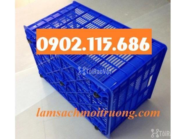 Thùng nhựa kéo hàng nặng,sọt nhựa kéo hàng nặng,sọt nhựa đựng hàng may - 2/2