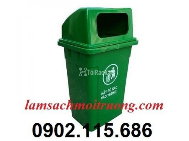 Thùng rác nhựa 90 lít, thùng rác công cộng 90 lít, thùng đựng rác y tế - 2/3