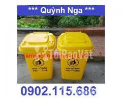 Thùng rác nhựa 90 lít, thùng rác công cộng 90 lít, thùng đựng rác y tế - Hình ảnh 3/3