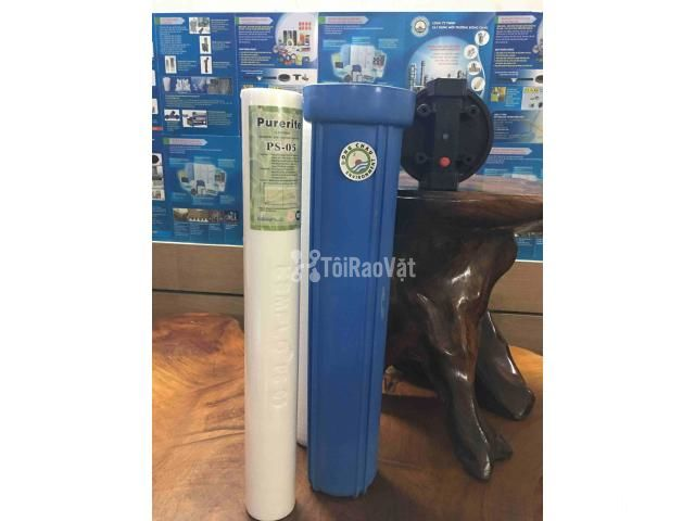 Cốc lọc nhựa xanh 20 inch dùng để lọc cặn chất lỏng. Đông Châu - 1/1