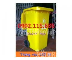 Thùng rác nhựa 120 lít 2 bánh xe,thùng rác có bánh xe kéo, - Hình ảnh 1/2