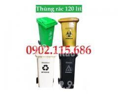 Thùng rác nhựa 120 lít 2 bánh xe,thùng rác có bánh xe kéo, - Hình ảnh 2/2