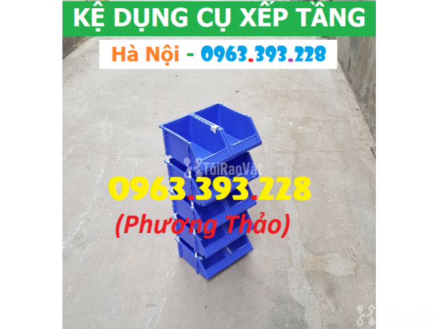 Kho bán Khay nhựa đựng linh kiện có tắc kê chống tầng - 1/3