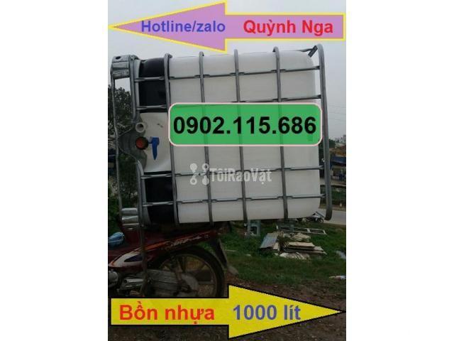 Thùng nhựa 1000L, tank nhựa IBC, thùng đựng hóa chất, thùng nuôi cá, - 1/2