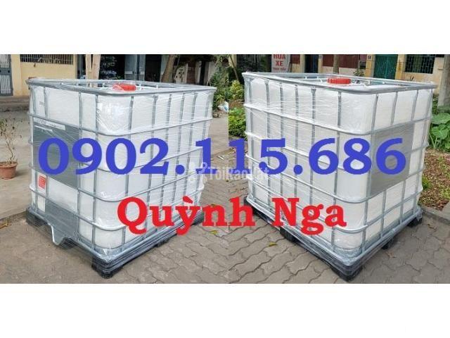 Thùng nhựa 1000L, tank nhựa IBC, thùng đựng hóa chất, thùng nuôi cá, - 2/2