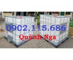 Thùng nhựa 1000L, tank nhựa IBC, thùng đựng hóa chất, thùng nuôi cá, - Hình ảnh 2/2