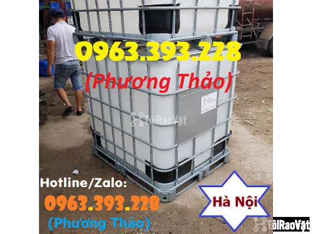 Bán Tank nhựa IBC 1000L cũ, bồn nhựa 1 khối đã qua sử dụng tại Hà Nội - 1/3