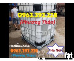 Bán Tank nhựa IBC 1000L cũ, bồn nhựa 1 khối đã qua sử dụng tại Hà Nội - Hình ảnh 1/3