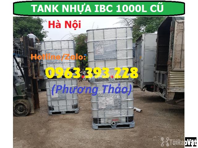 Bán Tank nhựa IBC 1000L cũ, bồn nhựa 1 khối đã qua sử dụng tại Hà Nội - 2/3