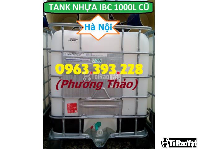 Bán Tank nhựa IBC 1000L cũ, bồn nhựa 1 khối đã qua sử dụng tại Hà Nội - 3/3
