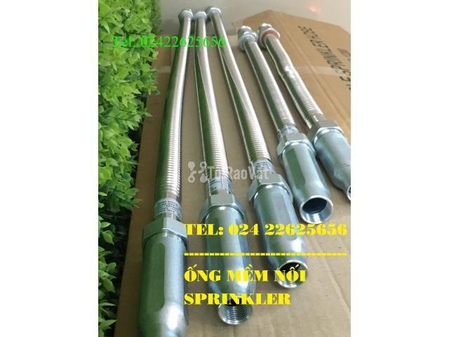 DJ25Ub1000 - Dây mềm Inox nối đầu phun sprinkler- Daejin - 1000mm - 3/6