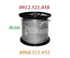 Cáp inox 304 bọc nhựa 10 mm (0968.521.058) Bán cáp bọc nhựa đen 10 ly. - Hình ảnh 2/6